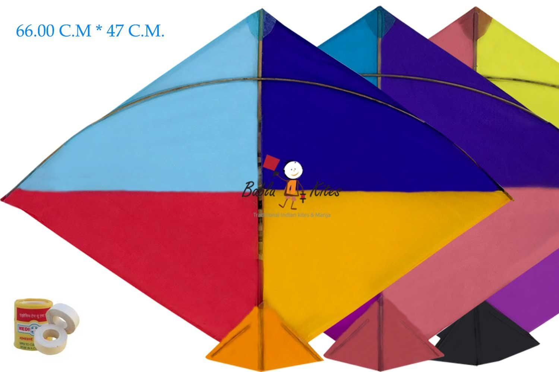 Babla 40 Designer Fighter Adadhita Cheel Kites (Size 66*47 Centimeter)
