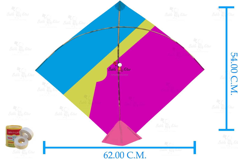 Babla 40 Designer Fighter Adadhita Patang Kites (Size 62*54 Centimeter)