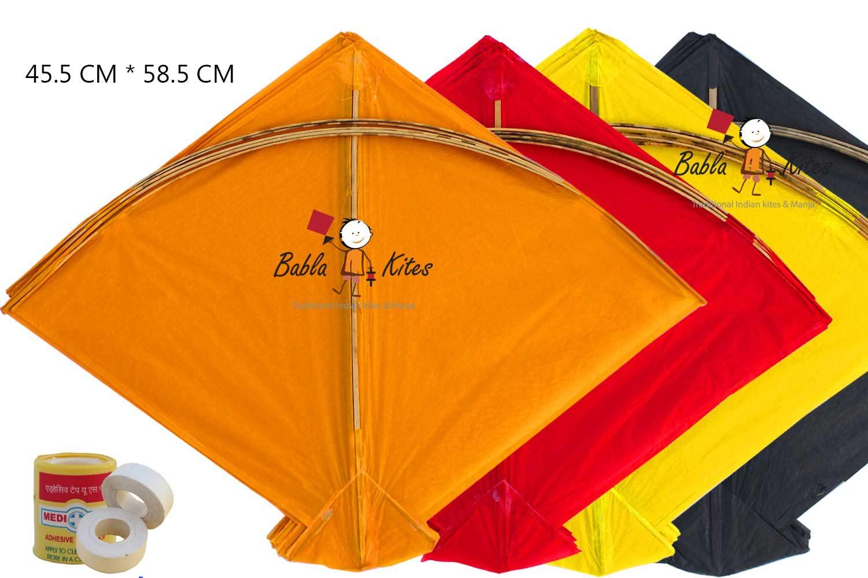 Babla Indian Fighter Cheel Kites (Size 58.5*45.5 Centimeter)