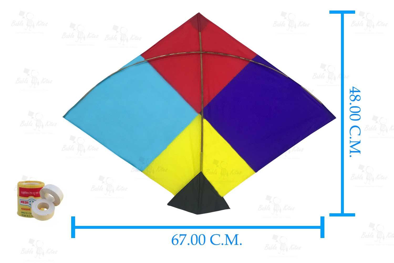 Babla 40 Designer Fighter Adadhita Cheel Kites (Size 67*48 Centimeter)