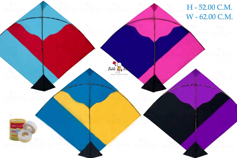 Babla 40 Designer Fighter Adadhita Patang Kites (Size 62*52 Centimeter)