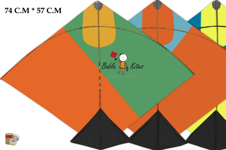 Babla 40 Designer Fighter Ponia Cheel Kites (Size 74*57 Centimeter)