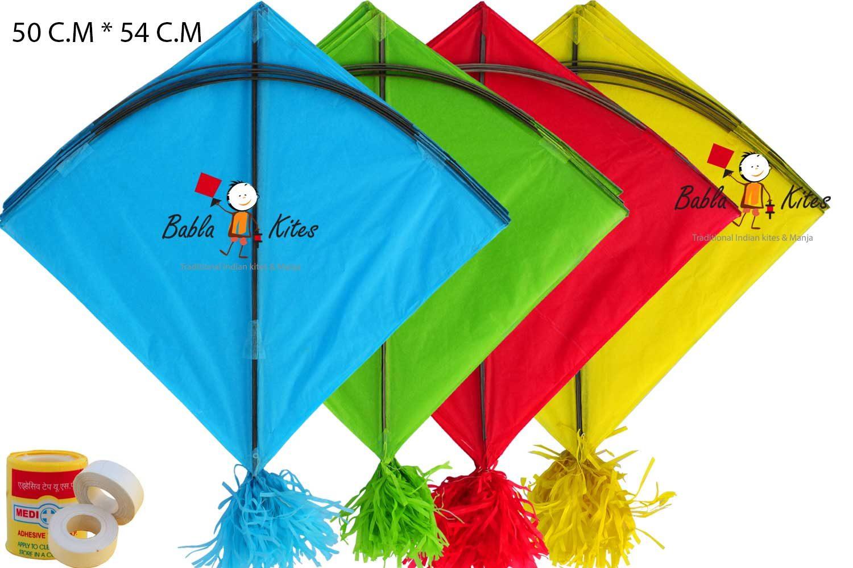 Babla 40 Colour Indian Fighter Rocket Kites (Size 54 * 50 Centimeter)